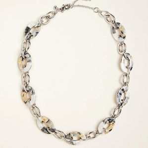 Ann Taylor Tortoiseshell Silver Link Necklace